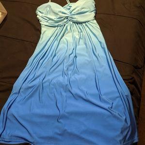 Ombre halter dress